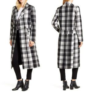 NWT Halogen Double Breasted Check Coat 8